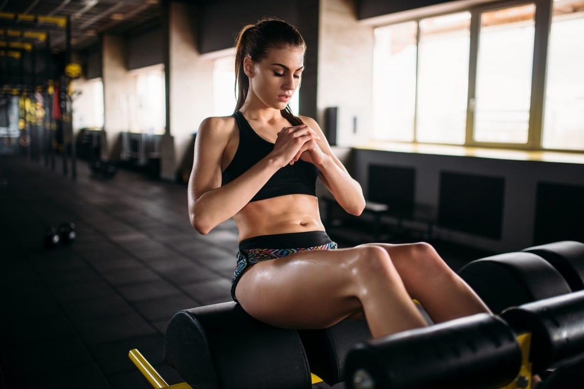 Sexy Female Exercising